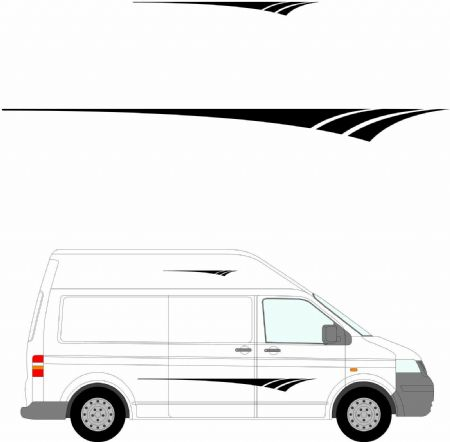 (No.201) MOTORHOME GRAPHICS STICKERS DECALS CAMPER VAN CARAVAN UNIVERSAL FITTING